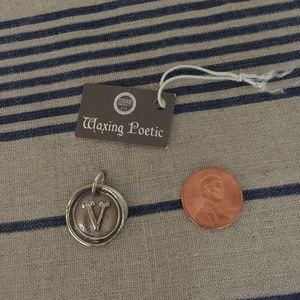 Waxing Poetic Sterling V Charm